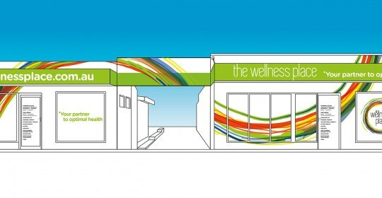 Fresh new design concept for The Wellness Place Bassendean's new facade!
