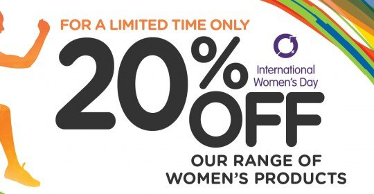 20% OFF OUR RANGE OF WOMEN'S PRODUCTS!