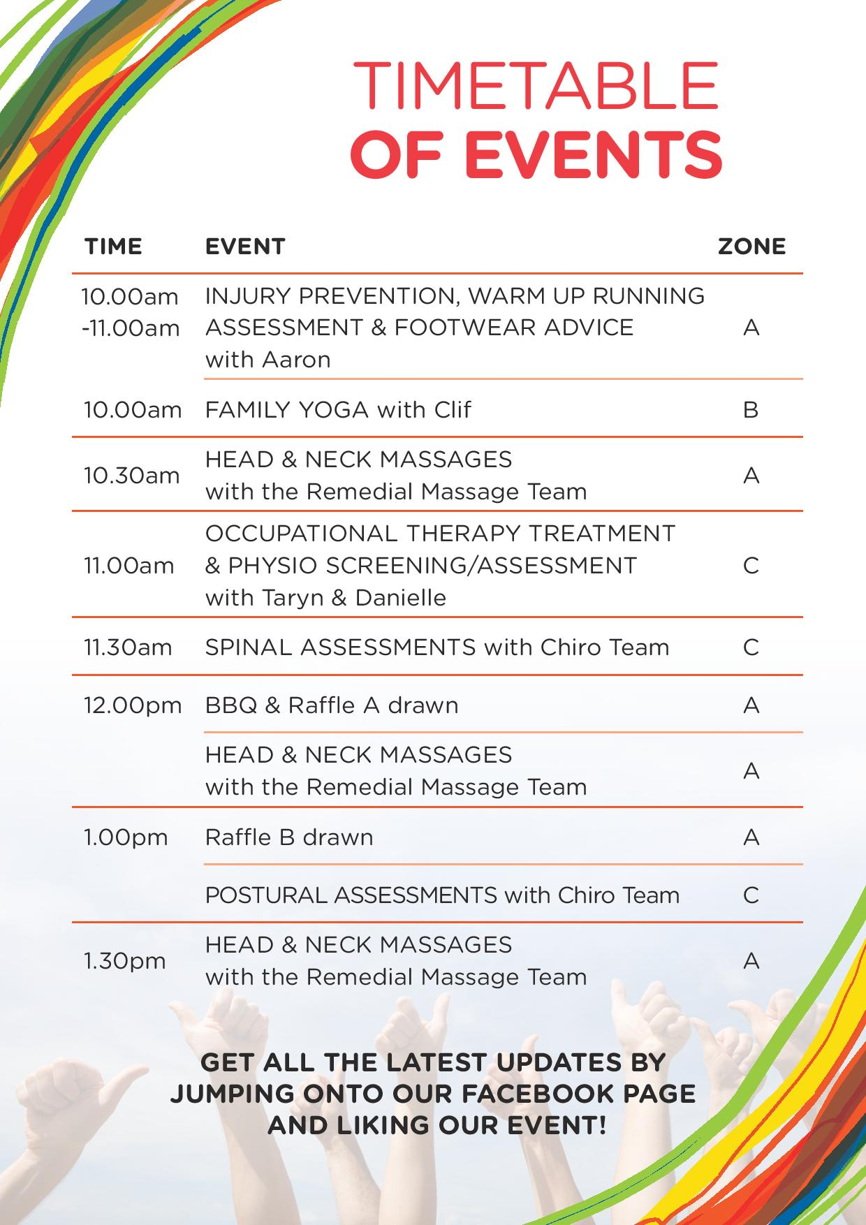 PATIENT APPRECIATION DAY – Sunday 25 FEB. – TIMETABLE!