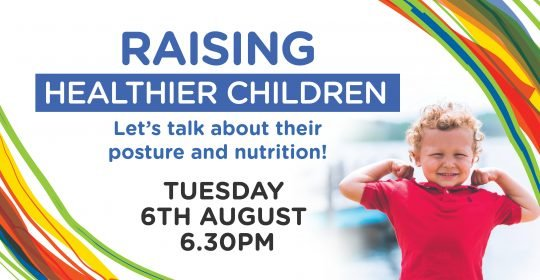 'RAISING HEALTHIER CHILDREN' WORKSHOP on Tues. 6 August!