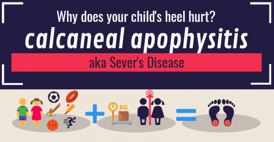 What is 'calcaneal apophysitis' and who does it affect?